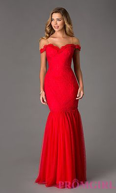 $278 Floor Length Lace Dress by Swing Prom at PromGirl.com