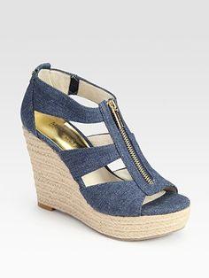 MICHAEL MICHAEL KORS Damita Espadrille Wedge Sandals... LOVE!!!!!!!!!! <3 <3 <3 <3 <3<3 <3 <3 <3 <3