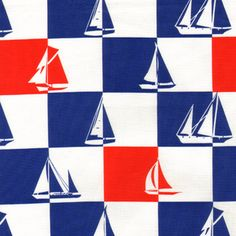 Alice Kennedy - Ship Shape - Sailboat Geo in White