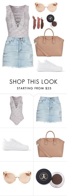 """""""#cphlife"""" by itsamandarose on Polyvore featuring Yves Saint Laurent, NIKE, Givenchy and Linda Farrow"""