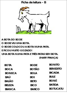 CANTINHO DA KATE: Fichas de leitura Mini Texto, Spanish Language, Professor, Homeschool, Activities, Writing, Education, Reading, Memes