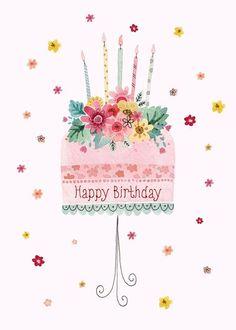 Happy Birthday cake pink