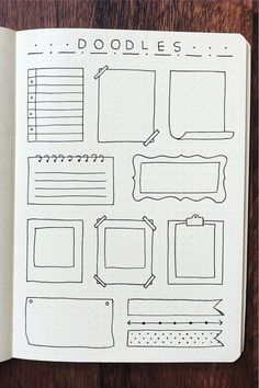 Want to add some fun doodles to your bullet journal! Check out these super cute paper note doodle tutorials for inspiration! Bullet Journal Paper, Bullet Journal Lettering Ideas, Journal Fonts, Bullet Journal Notebook, Bullet Journal School, Bullet Journal Ideas Pages, Bullet Journal Inspiration, Book Journal, Note Doodles