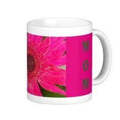 Pink Gerber Daisy MOM Mug
