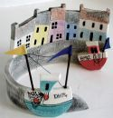 """""""Ceramic Harbour with Fishing Boats BM42 & DH74"""" by Gail Trezise from Brixham in Devon"""