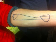Matt Senate has a tattoo of the ARPAnet as it stood in 1971 -- ARPAnet being the lineal ancestor of the modern Internet. The photo here is from Cyrus Farivar.