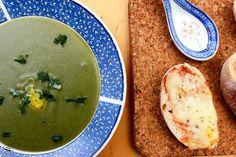 floco d'aveia: Spinach soup