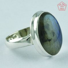 LABRADORITE STONE RING, 925 STERLING SILVER RING, CLASSY SILVER RING R4971 #SilvexImagesIndiaPvtLtd #Statement #AllOccasion