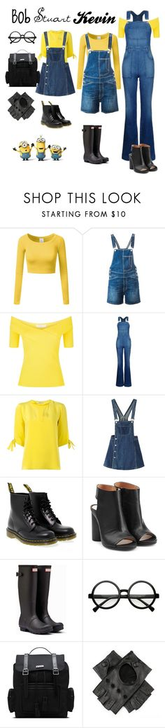 """""""despicably cute"""" by ruggierosaurustex ❤ liked on Polyvore featuring Doublju, Dondup, Sandro, STELLA McCARTNEY, Etro, WithChic, Dr. Martens, Maison Margiela, Hunter and Black"""