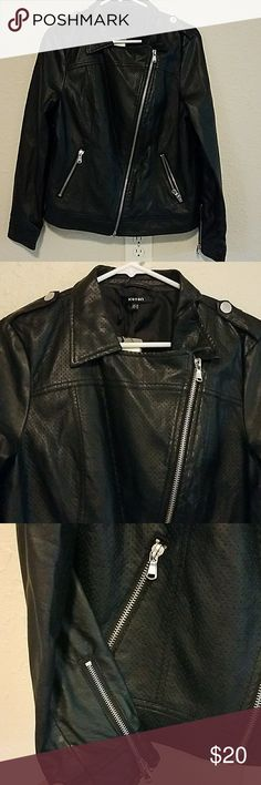 Night out jacket Lightweight faux leather, brand new, make offer, bundle for really great deals koton Jackets & Coats