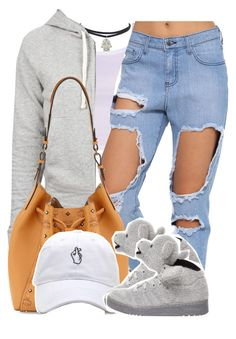 """Leave Me Lonely"" by queen-tiller ❤ liked on Polyvore featuring James Perse, MCM and adidas"