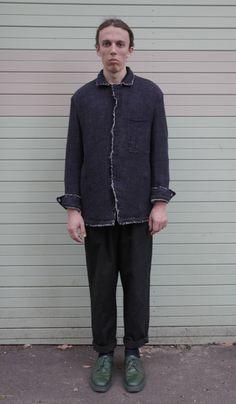 Freyr Jacket in Italian cotton/linen fleck and Antibes Pant.  www.sarkstudio.com.au