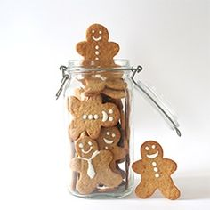 Gingerbread Men are a great gift, all you need is a cookie cutter and a jar!!