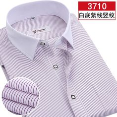 2016 Summer Men's Short Sleeve Shirt Stripe Slim Comfortable Youth Leisure and Business Office Non-Iron Casual Slim Fit clothing