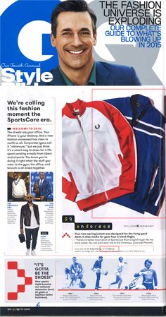 Gents navy track jacket endorsed by GQ!