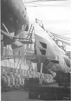 U-99 (Type VIIB) in dry-dock.