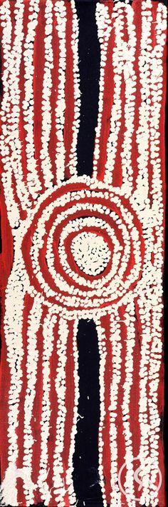 """Women's Ceremony"" by Ningura Napurrula 31cm x 92cm $1,500  http://www.aboriginalartstore.com.au/artists/ningura-napurrula/womens-ceremony-5/"