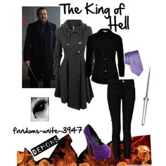 "2nd outfit for the King of Hell : ""Supernatural: Crowley"" by fandoms-unite-3947 on Polyvore"