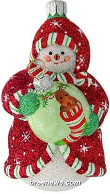 Ornamental Snowman (Red) Patricia Breen