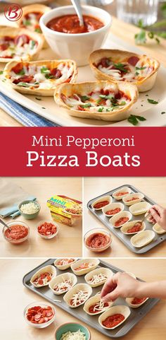Four ingredients are all you need to make these cheesy pepperoni pizza boats. Perfect for a kid-friendly last-minute dinner or game-day snack!