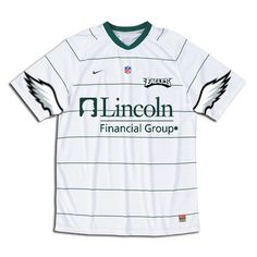 White Nike-style Eagles soccer jersey.
