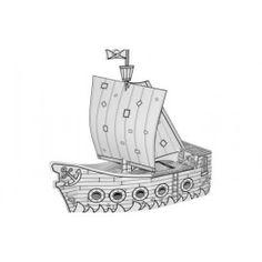 Paint your pirate ship, Villa Carton