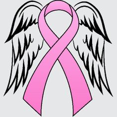 Pink Ribbon With Angel Wings For My Grandmother . . .