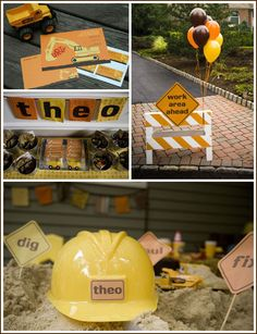 Construction party theme  Awesome site for party themes.  @Christina Wexler, you will not know what to do with yourself on this site!