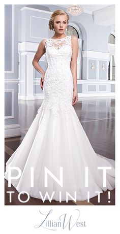 Make his jaw drop as you walk down the aisle in a Lillian West wedding dress. Enter for a chance to win a sultry wedding dress by pinning this image