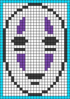 No-Face (Kaonashi) - Spirited Away perler bead pattern