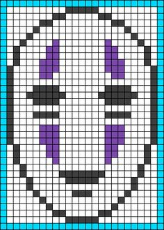 No-Face (Kaonashi) - Spirited Away perler bead pattern