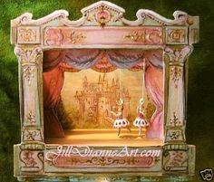 Jill Dianne Dollhouse Victorian Tabletop Ballet by JillDianneArt, $540.00 SOLD