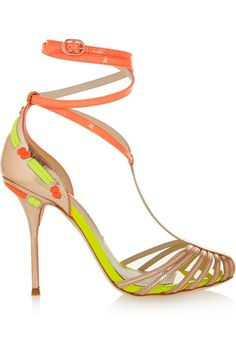Sophia Webster | Alicia patent and metallic leather sandals