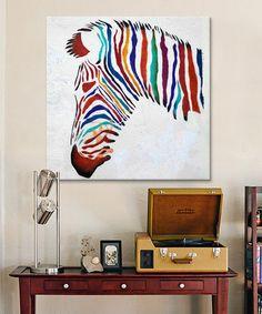 Look what I found on #zulily! Zebra Graffiti Gallery-Wrapped Canvas #zulilyfinds
