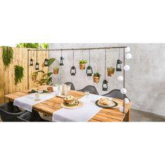 Tafelklem Ton van Leenbakker Small Balcony Garden, Small Garden Design, Outdoor Cafe, Outdoor Tables, Summer Garden, Home And Garden, Backyard Pool Parties, Bbq Catering, Garden Table