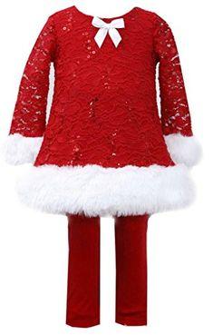 abf6aacc2 Sequin Bodice Santa Dress Fur Trim Santa Christmas, Red Christmas Dress, Girls  Christmas Outfits