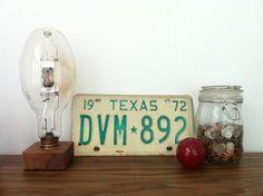 Vintage 1972 Texas License Plate 0