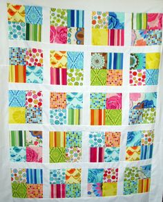 colourful simple cot quilt