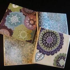 How to Make Tile Coasters {mod podge}