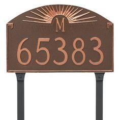 Montague Metal Products Sunburst Monogram Address Plaque Finish: White/Black