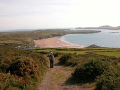 Whitesands Bay and Ramsey Island from Carn Llid