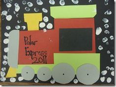 Polar Express Writing & Activities for Christmas - Cute younger kids idea to have them glue cotton balls on their hot chocolate and count up the number of cotton balls there are.