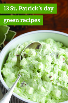 13 St. Patrick's Day Green Recipes – If you're celebrating St. Patrick's Day, you'll need as much green as you can get. We've put all of our favorite green food right here. For starters, try a guacamole or spinach dip. Pastas with pesto or veggie casseroles fit the bill for a dinner entrée. And don't forget dessert! Pistachio, mint, and lime are the perfect flavors for St. Paddy's Day sweets.