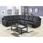 Coaster Furniture - Double Reclining Sectional in Black - 711426   SPECIAL PRICE: $1,519.00