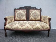 Victorian-Eastlake-Walnut-Tapestry-Love-Seat-Settee-5987