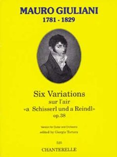Mauro Giuliani: 6 Vars. Op. 38 (Guitar & Orchestra) (Book)