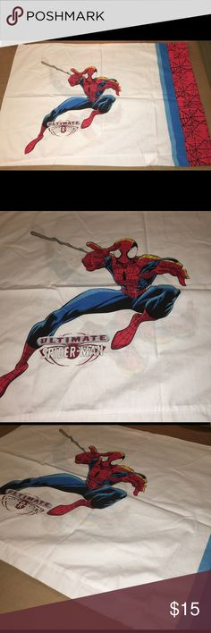 """Ultimate spider man pillow case Thank you for viewing my listing, for sale is a ultimate spider man pillow case   This pillowcase is double-sided.  Pillowcase measures approximately 27""""X20""""  If you have any questions or would like additional photos please feel free to ask Marvel Accessories"""