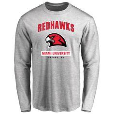 Miami University RedHawks Big & Tall Campus Icon Long Sleeve T-Shirt - Ash - $29.99