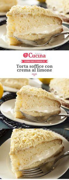 #Torta soffice con crema al #limone