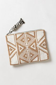Anthropologie Geo Beaded Pouch by Jasper Beaded Clutch, Beaded Bags, Back Bag, Pack Your Bags, Jute Bags, Little Bag, Beautiful Bags, Couture, Beaded Embroidery